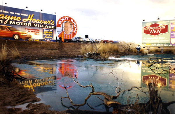 Toxic Creek and the backside of Dwayne Hoover's Motor Village